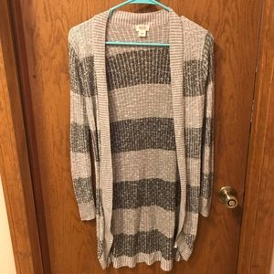 ❤️Mossimo Stripped Open Front Cardigan